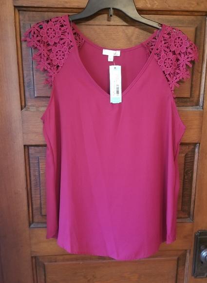 dc67e884a15bc Stitch Fix Jella C Crochet Sleeve Blouse